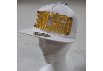 Immagine di Cappellino Chicago white/gold