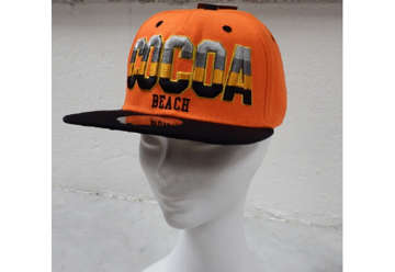 Immagine di Cappellino Cocoa beach city snapback orange and black
