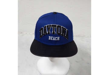 Immagine di Cappellino Daytona beach leather bill blue and black