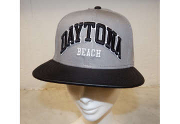 Immagine di Cappellino Daytona beach leather bill gray and black