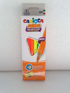 Immagine di Carioca Neon Color Pencil 6 pz