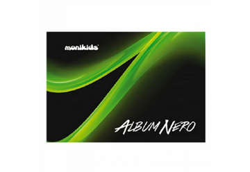 Immagine di Album nero 24x33 160 gr 10 fg Nik office