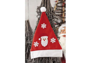 Immagine di Cappello Natale ass. in 3 decori cm 29,5X43