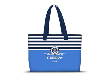 Immagine di Borsa Mare in Canvas con scritta GENOVA in 4 fantasie