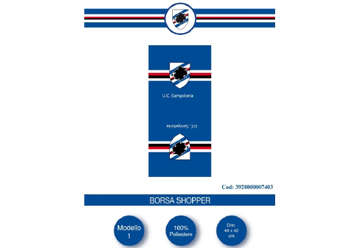 Immagine di Borsa shopper Sampdoria